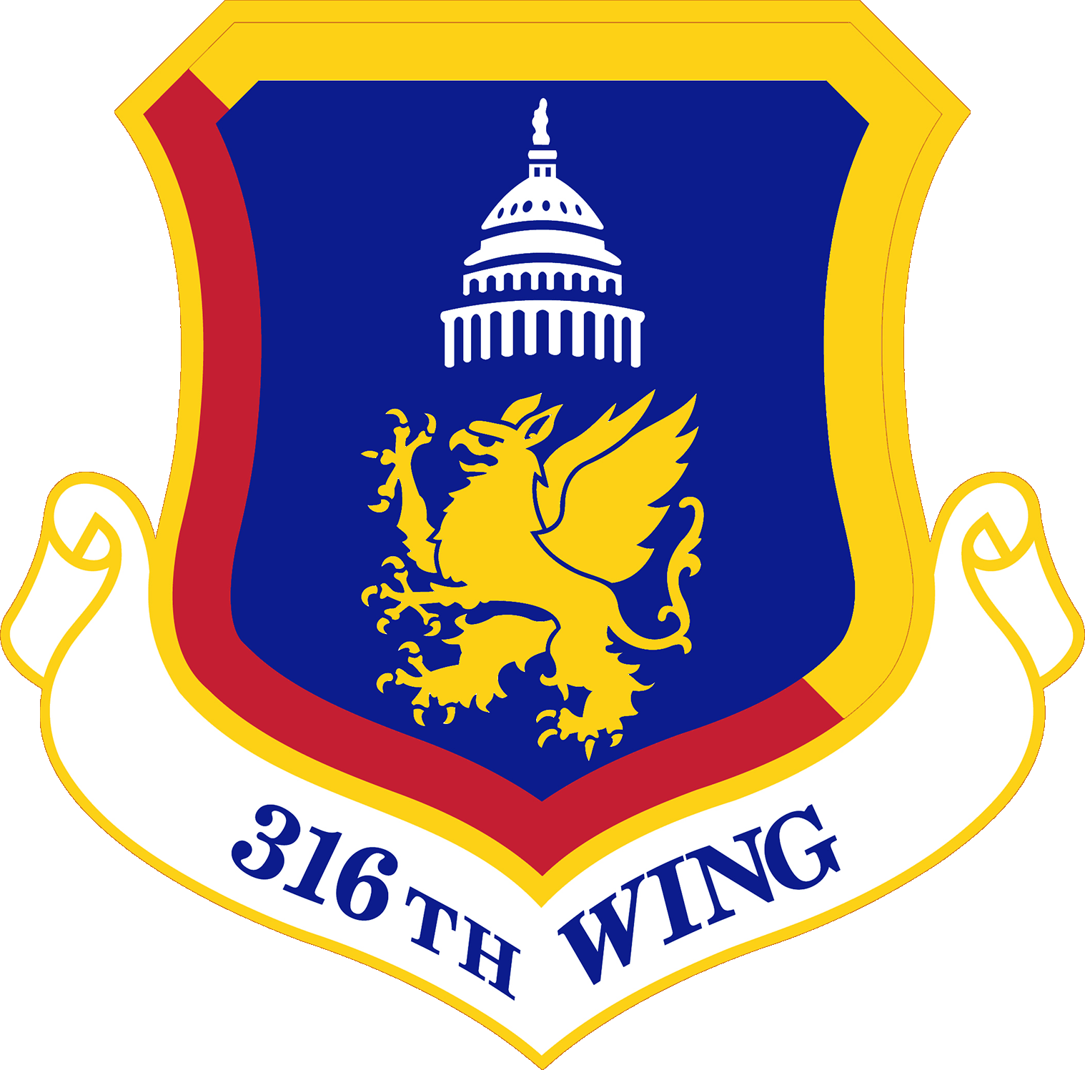 316th wing logo - transparent background